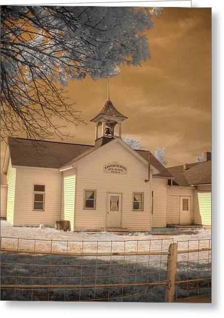 Arcola Illinois School Greeting Card by Jane Linders