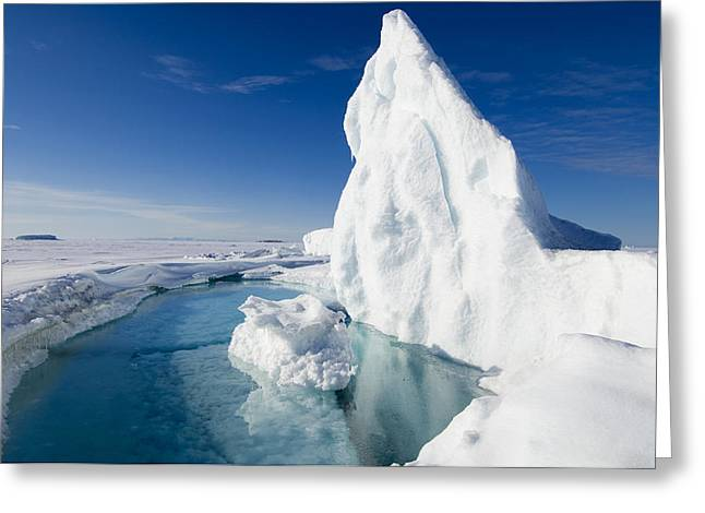 Arctic Sea Ice Melting, Canada Greeting Card by Louise Murray
