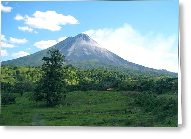 Greeting Card featuring the photograph Arenal by Eric Tressler