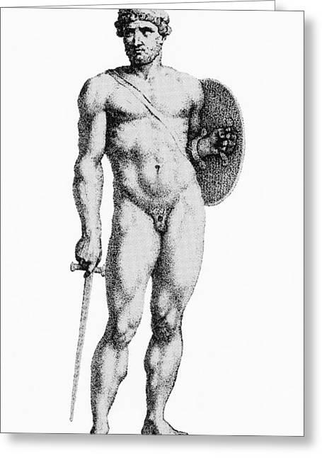 Ares, Greek God Of War Greeting Card