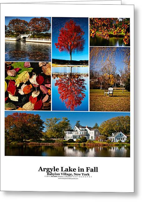 Argyle Lake Fall Poster Greeting Card by Vicki Jauron