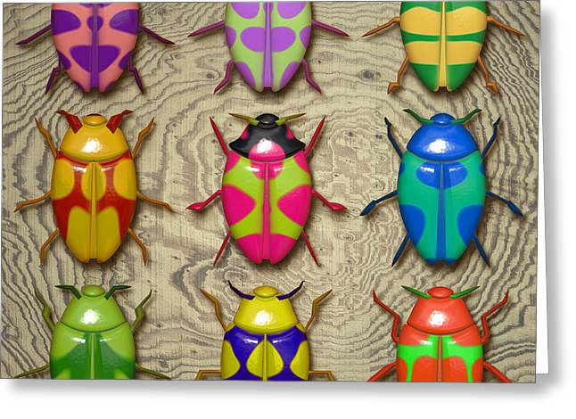 Aristotle Coleoptera IIi. Greeting Card by Tautvydas Davainis