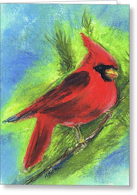 Arizona Cardinal Greeting Card by Marilyn Barton