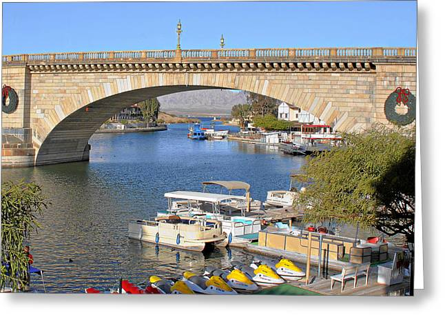 Arizona Import - Iconic London Bridge Greeting Card by Christine Till