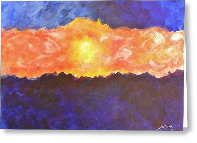 Greeting Card featuring the painting Arizona Sunset by Tatum Chestnut