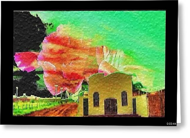 Greeting Card featuring the painting Arkansas by Beto Machado