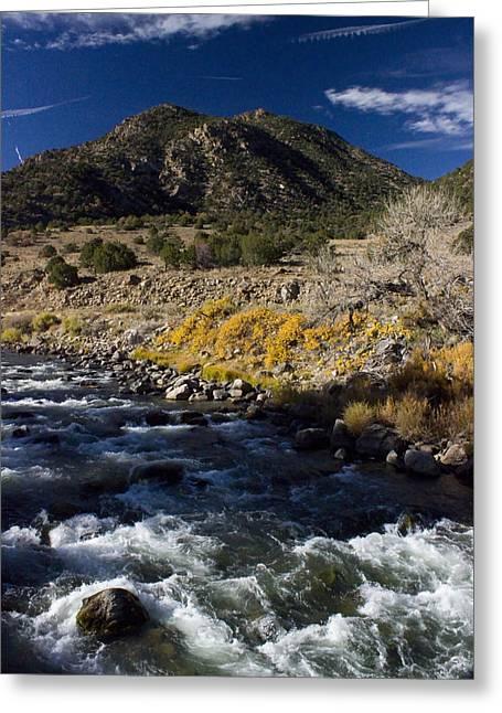 Arkansas River Autumn Greeting Card by Ellen Heaverlo