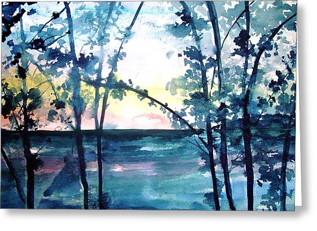 Arkansas Sunset Greeting Card by Robin Miller-Bookhout