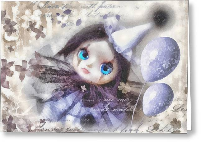Arlequin Greeting Card by Mo T