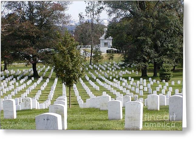Arlington National Cemetery Greeting Card by Suzanne Clark