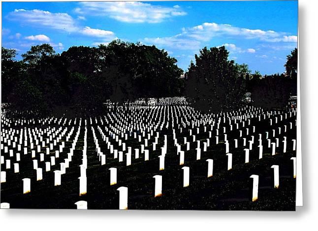 Arlington National Cemetery Greeting Card by Valia Bradshaw