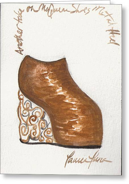 Armadillo Shoe Greeting Card