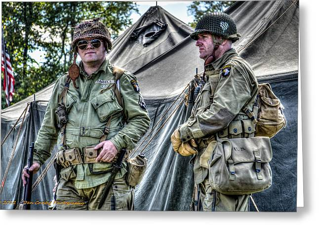 Army Life Greeting Card by Dan Crosby