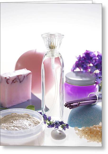 Aromatherapy Greeting Card by Tek Image