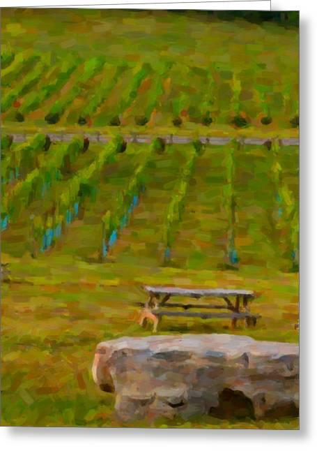 Arrington Vineyards Greeting Card by Paul Bartoszek