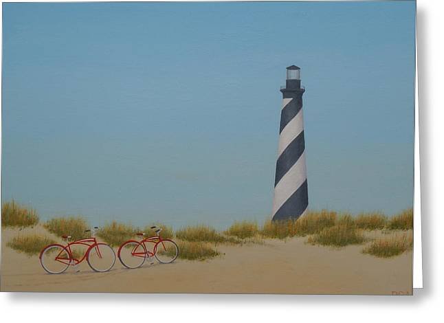 Arriving At Cape Hatteras Greeting Card