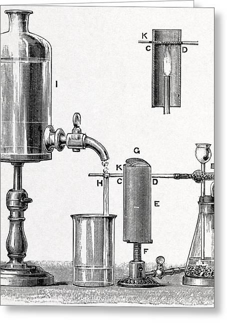 Arsenic Detection, 19th Century Artwork Greeting Card