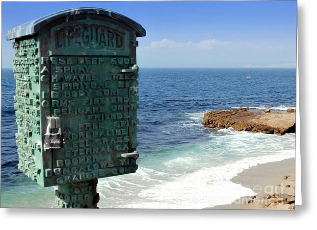 Call Box Greeting Cards - Art and the Ocean Greeting Card by Karyn Robinson