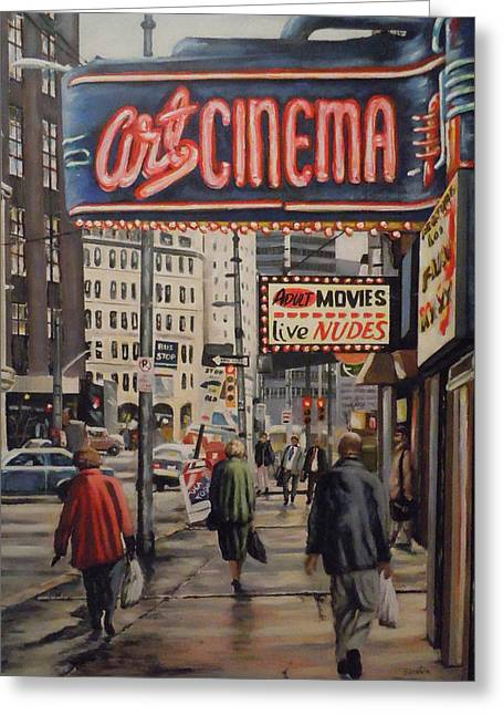Art Cinema Greeting Card by James Guentner