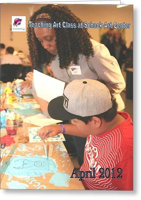 Art Class Facilitator 1 Greeting Card by Carol Rashawnna Williams