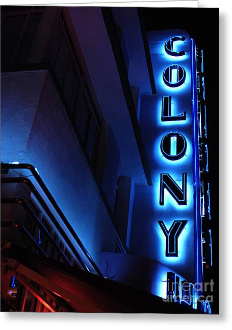 Colony Hotel Art Deco District Miami 2 Greeting Card by Bob Christopher