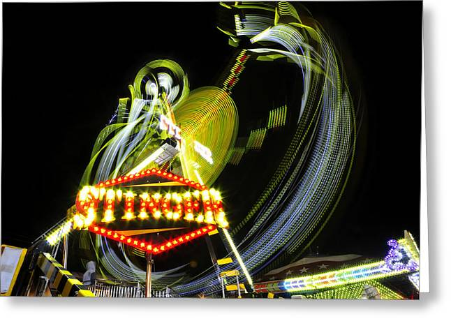 Art In The Night Air Greeting Card by David Lee Thompson