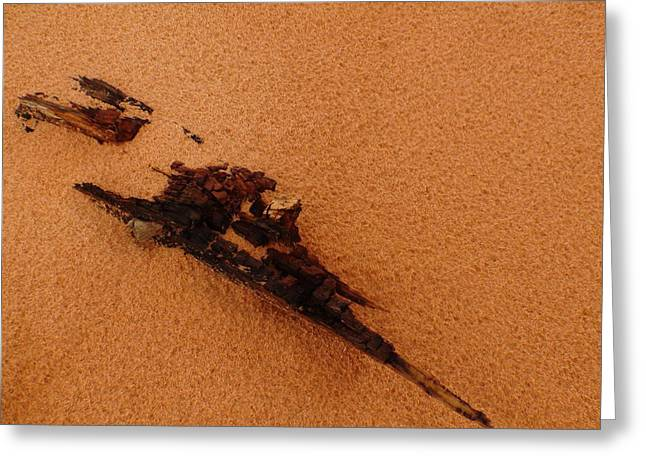 Art In The Sand Greeting Card