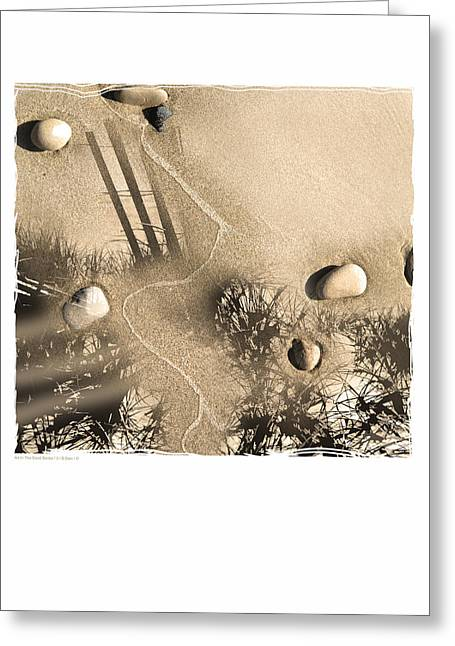 Art In The Sand Series 3 Greeting Card by Bob Salo