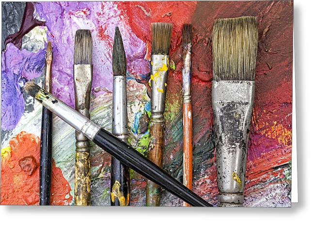 Art Is Messy 6 Greeting Card by Carol Leigh