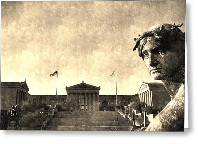 Art Museum Of Philadelphia Greeting Card by Andrew Dinh