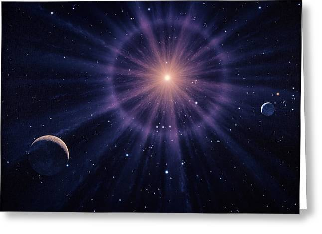 Art Of Betelgeuse As Supernova Greeting Card by Joe Tucciarone