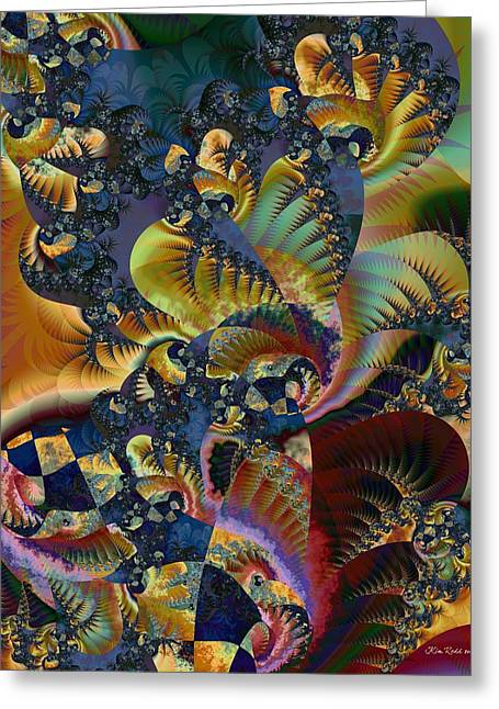 Greeting Card featuring the digital art Art Of Confusion by Kim Redd