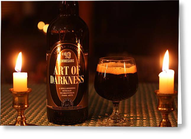 Art Of Darkness Greeting Card by Robert Rizzolo