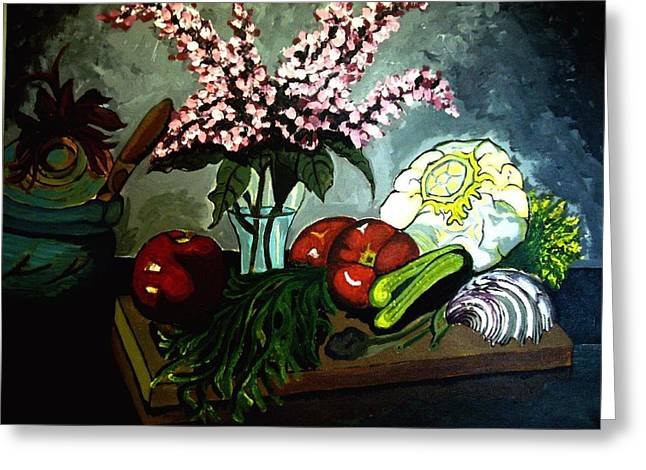 Artful Cuisine  Greeting Card by Ulrike Proctor