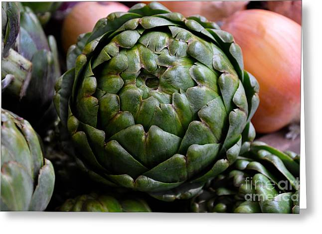 Artichoke Greeting Card by Camille Lyver