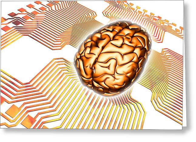 Artificial Intelligence, Computer Artwork Greeting Card by Pasieka