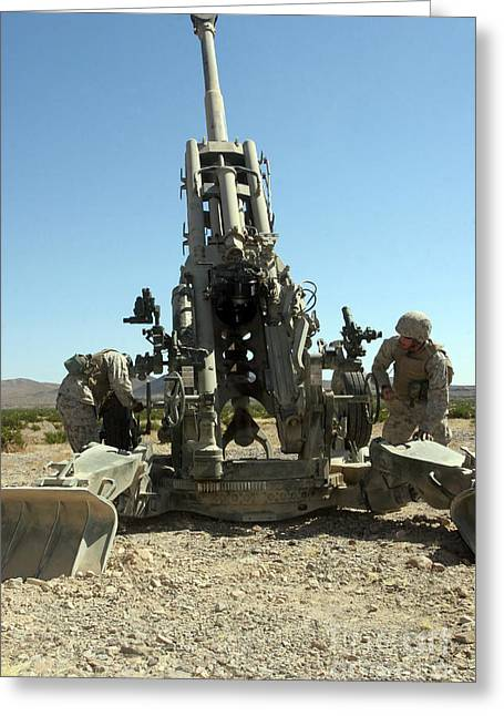 Artillerymen Manning The M777 Greeting Card by Stocktrek Images