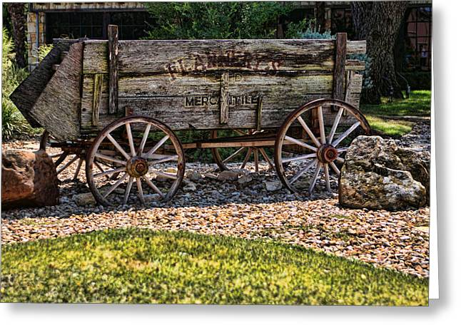 Artistic Antique Texas Wagon Greeting Card