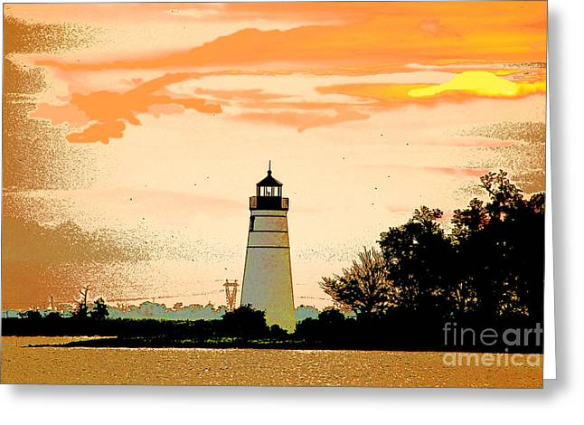 Greeting Card featuring the photograph Artistic Madisonville Lighthouse by Luana K Perez