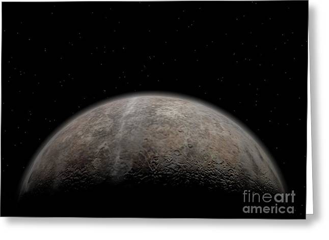 Artists Concept Of Pluto Greeting Card by Walter Myers