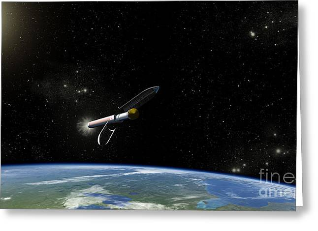 Artists Concept Of The Atlas V541 Greeting Card by Stocktrek Images