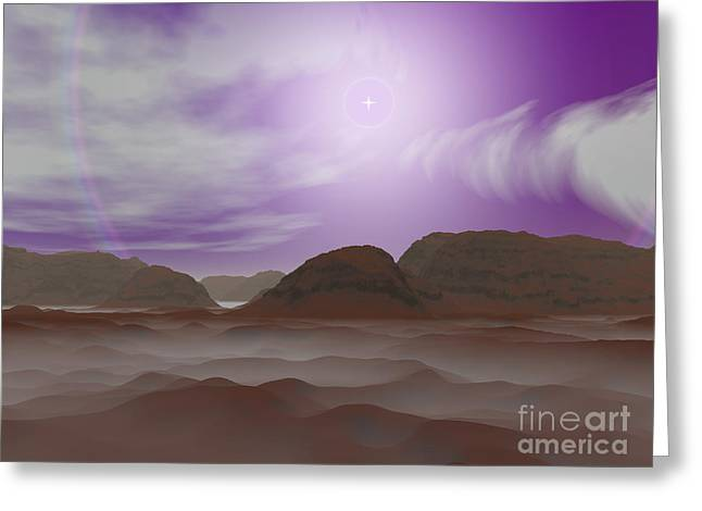 Artists Concept Of The Atmosphere Greeting Card by Walter Myers