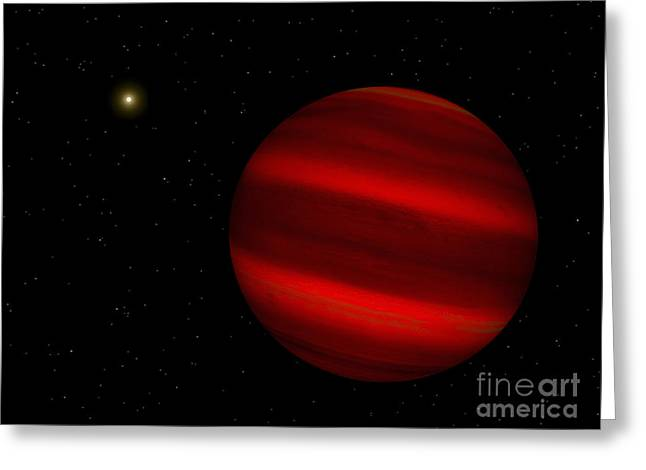 Artists Concept Of The Brown Dwarf Greeting Card by Walter Myers