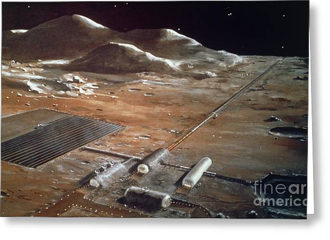 Artists Impression Of A Future Lunar Greeting Card by NASA / Science Source