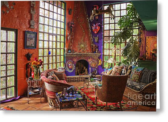 Artists Sitting Room Greeting Card by Jeremy Woodhouse