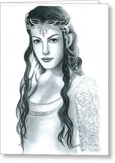 Arwen Undomiel Greeting Card by Crystal Rosene