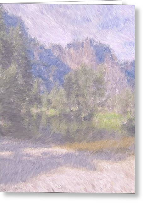 As If Monet Painted Yosemite Greeting Card by Heidi Smith