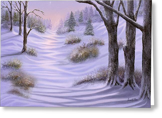 As Snow Falls Comes Silence Greeting Card