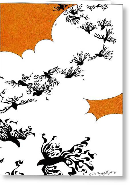 As The Crows Fly Greeting Card