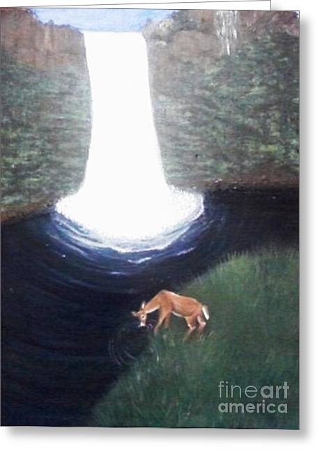 As The Deer Panteth For The Water Greeting Card by Patty  Thomas